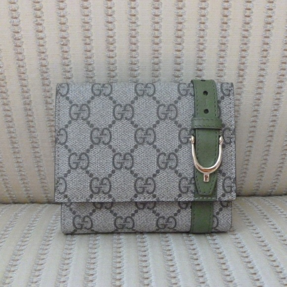 Gucci Handbags - Gucci GG Supreme Canvas and Leather Compact Wallet
